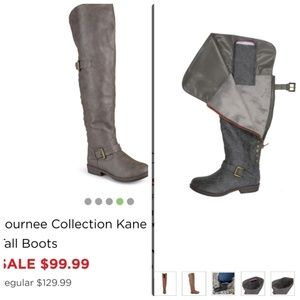 NWT Over the Knee Boots with Cell Holder - Taupe
